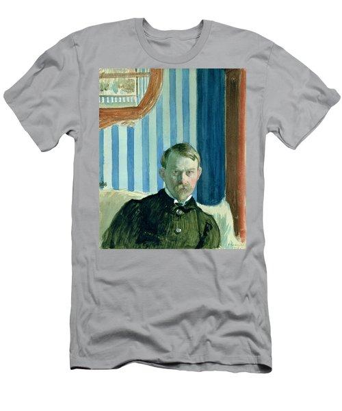 Self Portrait, 1910 Oil On Canvas Men's T-Shirt (Athletic Fit)