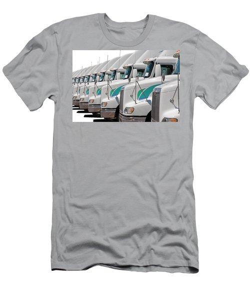 Men's T-Shirt (Athletic Fit) featuring the photograph Semi Truck Fleet by Gunter Nezhoda