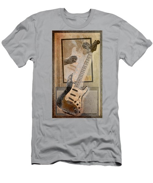 Men's T-Shirt (Slim Fit) featuring the digital art Sepia Strat by WB Johnston