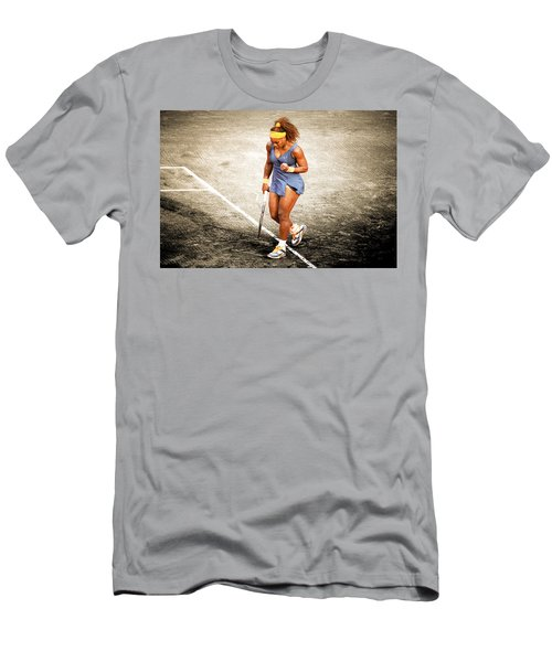 Serena Williams Count It Men's T-Shirt (Slim Fit) by Brian Reaves