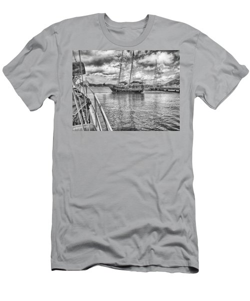 Men's T-Shirt (Slim Fit) featuring the photograph Setting Sail by Howard Salmon