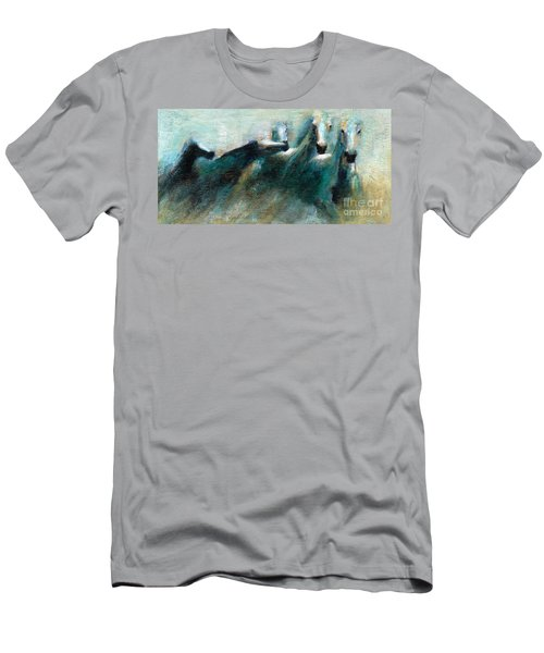 Shades Of Blue Men's T-Shirt (Athletic Fit)