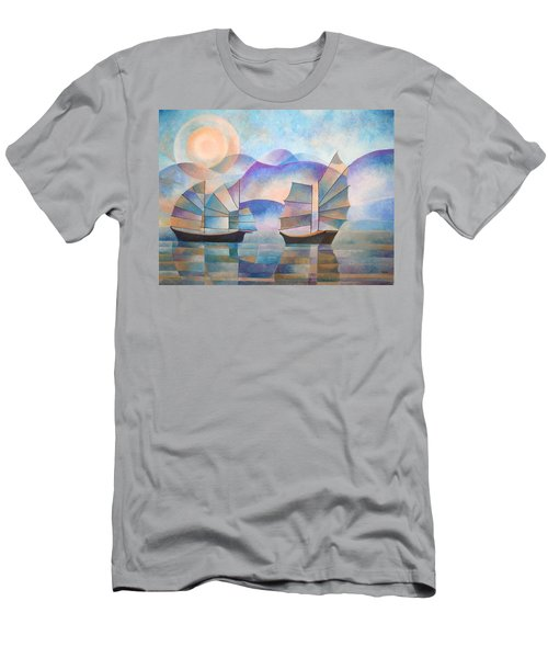 Shades Of Tranquility Men's T-Shirt (Athletic Fit)
