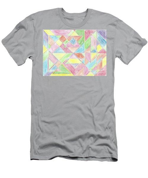 Shapes Of Colour Men's T-Shirt (Athletic Fit)