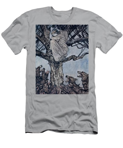 She Looked With Angry Woe At The Straining And Snarling Horde Below Illustration From Irish Fairy  Men's T-Shirt (Athletic Fit)