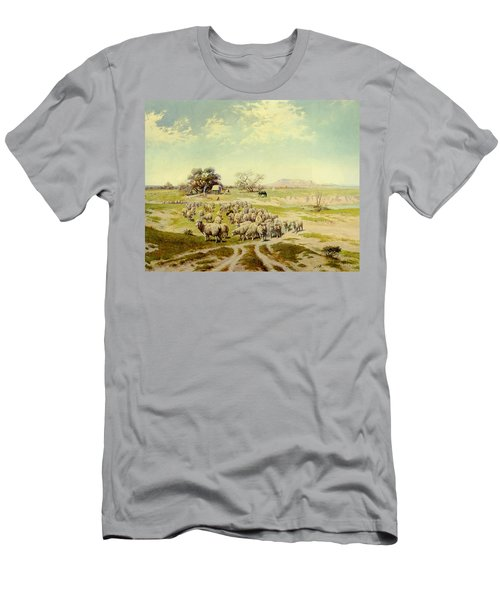 Sheepherding Montana Men's T-Shirt (Athletic Fit)