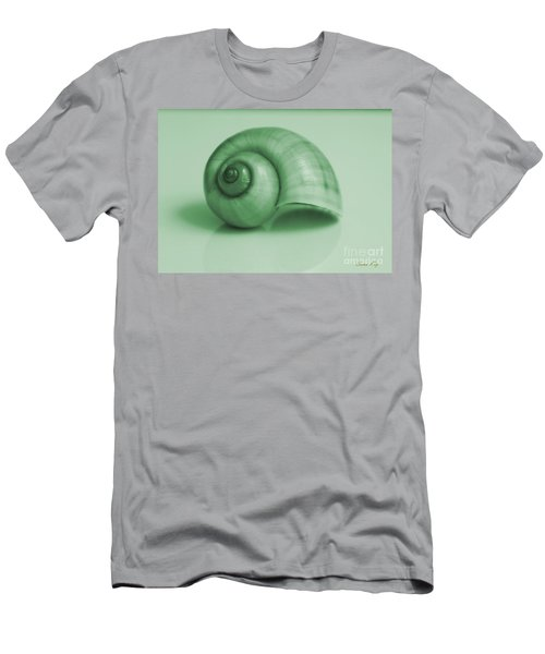 Shell. Light Green Men's T-Shirt (Athletic Fit)