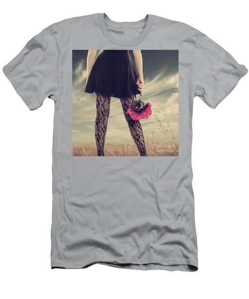 Men's T-Shirt (Slim Fit) featuring the digital art She's Got Legs by Linda Lees