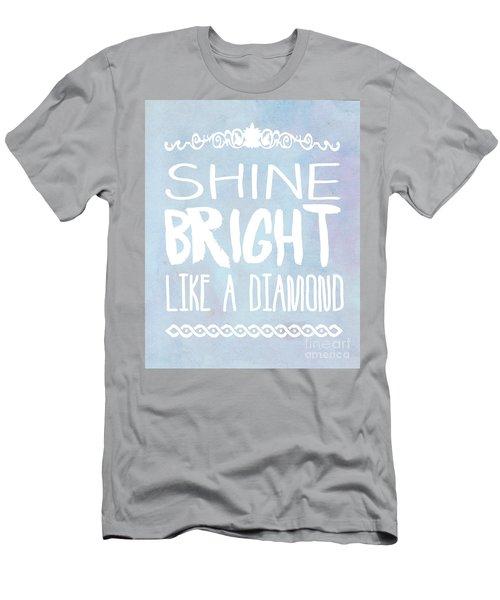 Shine Bright Blue Men's T-Shirt (Athletic Fit)