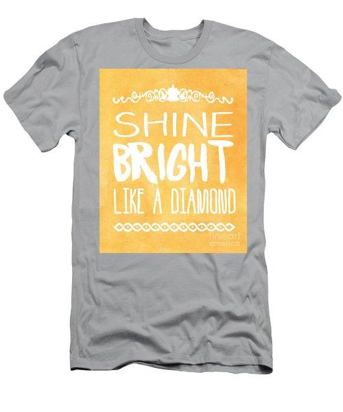 Shine Bright Orange Men's T-Shirt (Athletic Fit)