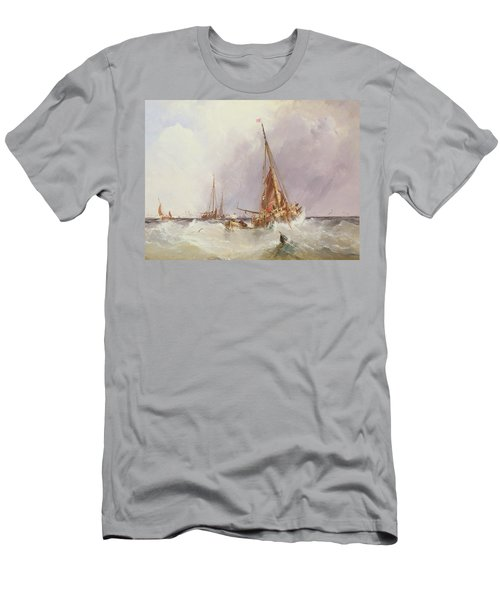 Shipping In The Solent 19th Century Men's T-Shirt (Athletic Fit)