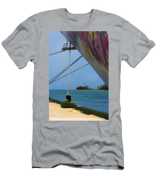 Ship's Ropes And Lighthouse Men's T-Shirt (Athletic Fit)