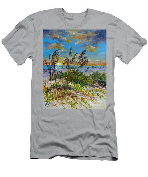 Siesta Beach Sunset Dunes Men's T-Shirt (Slim Fit) by Lou Ann Bagnall