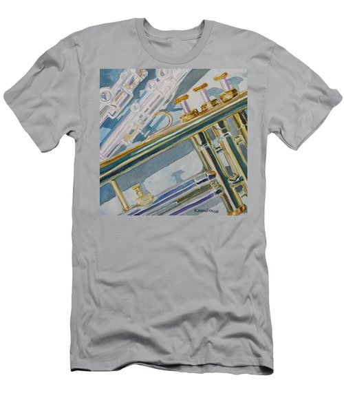 Silver And Brass Keys Men's T-Shirt (Athletic Fit)