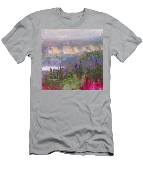 Silver And Gold - Matanuska Canyon Cliffs River Fireweed Men's T-Shirt (Athletic Fit)