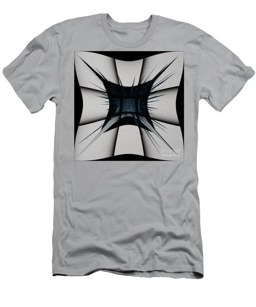 Men's T-Shirt (Athletic Fit) featuring the digital art Silver Craft by Mihaela Stancu