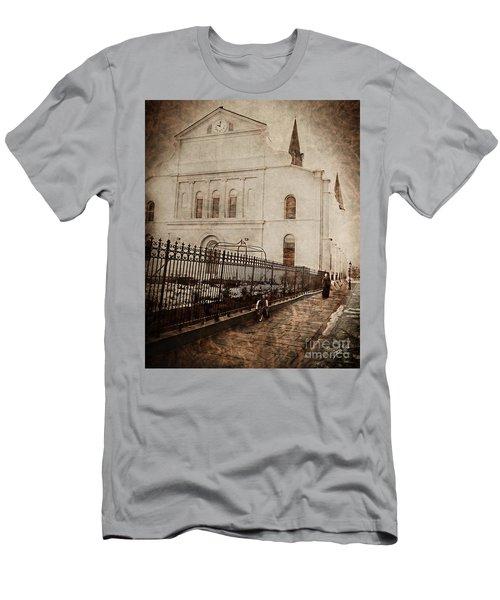 Men's T-Shirt (Slim Fit) featuring the digital art Simpler Times by Erika Weber