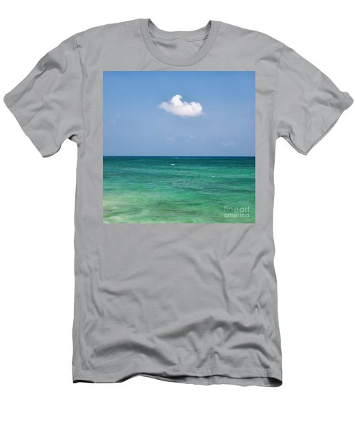 Single Cloud Over The Caribbean Men's T-Shirt (Athletic Fit)