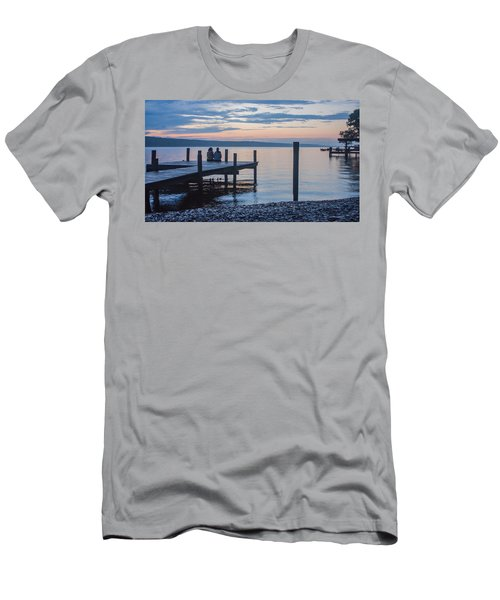 Sisters - Lakeside Living At Sunset Men's T-Shirt (Slim Fit) by Photographic Arts And Design Studio