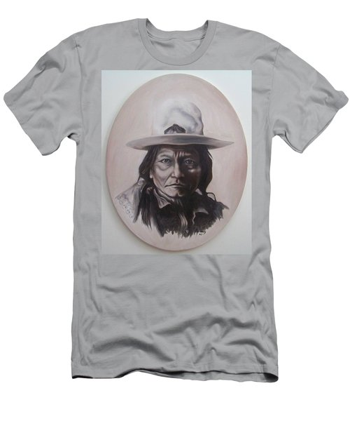 Men's T-Shirt (Slim Fit) featuring the painting Sitting Bull by Michael  TMAD Finney