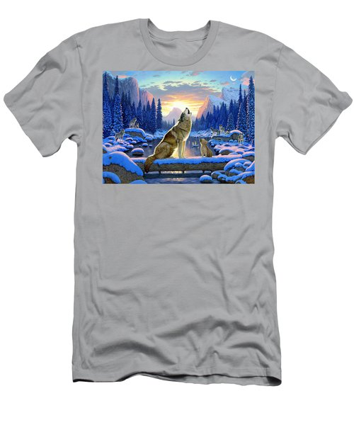 Sitting Wolf And Cub Men's T-Shirt (Athletic Fit)