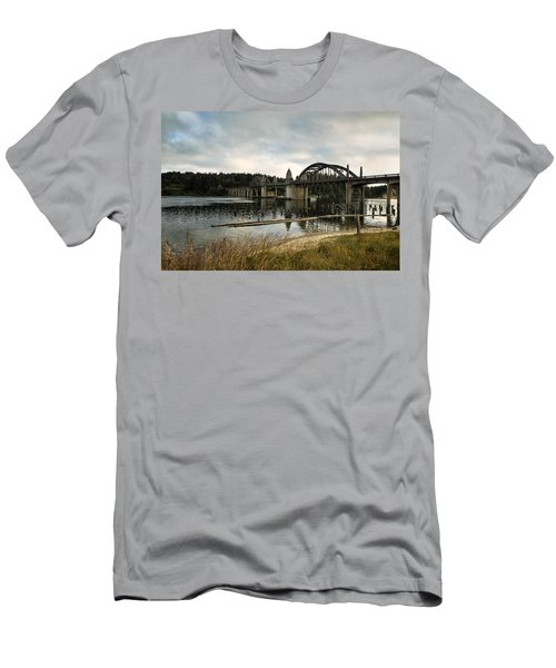 Men's T-Shirt (Athletic Fit) featuring the photograph Siuslaw River Bridge by Belinda Greb