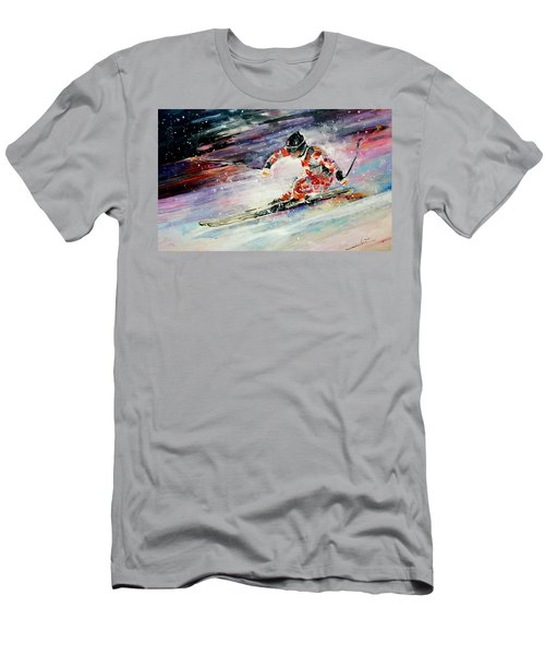 Skiing 01 Men's T-Shirt (Athletic Fit)