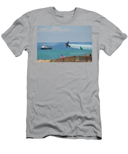 Skip Stewart Extreme Low-level Practice Men's T-Shirt (Slim Fit) by Jeff at JSJ Photography