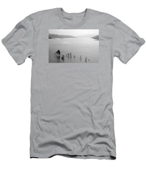 Men's T-Shirt (Slim Fit) featuring the photograph Skc 0055 A Hazy Riverscape by Sunil Kapadia