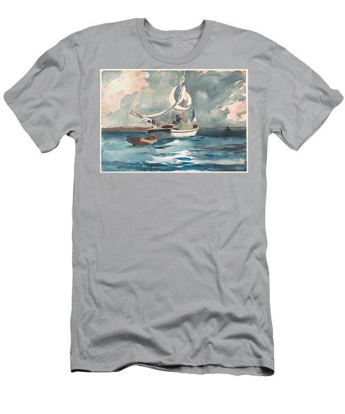 Sloop  Nassau Bahamas Men's T-Shirt (Athletic Fit)
