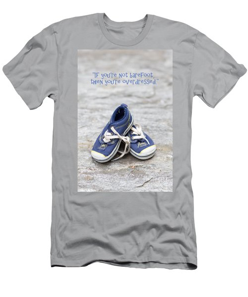 Small Blue Sneakers Men's T-Shirt (Athletic Fit)
