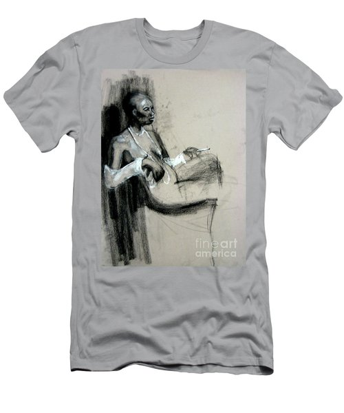 Men's T-Shirt (Athletic Fit) featuring the drawing Smoking by Gabrielle Wilson-Sealy