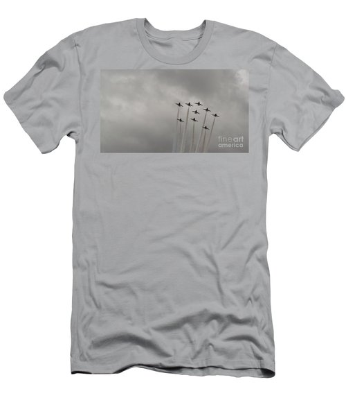 Men's T-Shirt (Slim Fit) featuring the pyrography Smoking Planes by Tracey Williams
