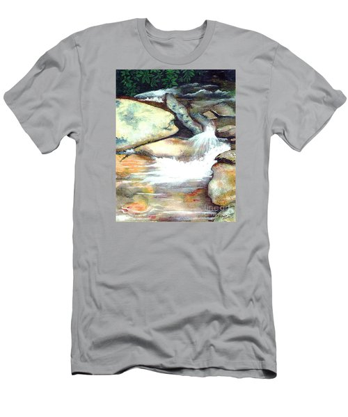 Smoky Mountains Waterfall Men's T-Shirt (Athletic Fit)