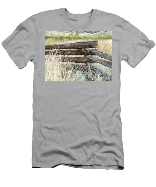 Men's T-Shirt (Athletic Fit) featuring the photograph Snake Fence And Sage Brush by Ann E Robson