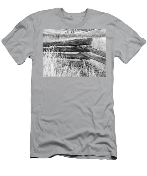 Men's T-Shirt (Athletic Fit) featuring the photograph Snake Fence  by Ann E Robson