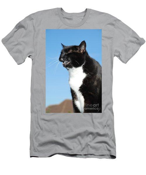 Sneezing Cat Men's T-Shirt (Athletic Fit)