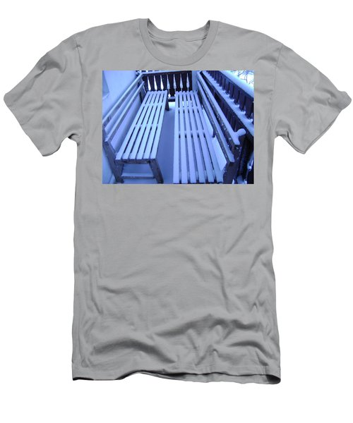 Snow Covered Bench Men's T-Shirt (Athletic Fit)