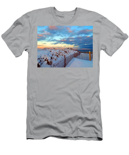 Snow Dunes At Sunrise Men's T-Shirt (Athletic Fit)