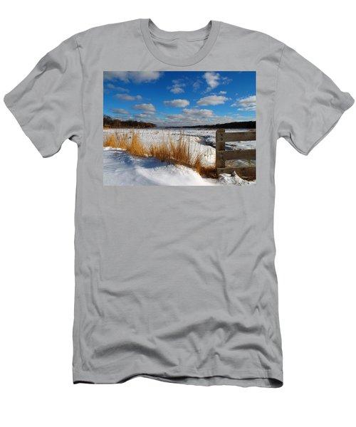 Men's T-Shirt (Slim Fit) featuring the photograph Snow Marsh by Dianne Cowen