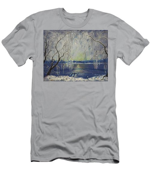 Snowy Day At The Lake Men's T-Shirt (Athletic Fit)