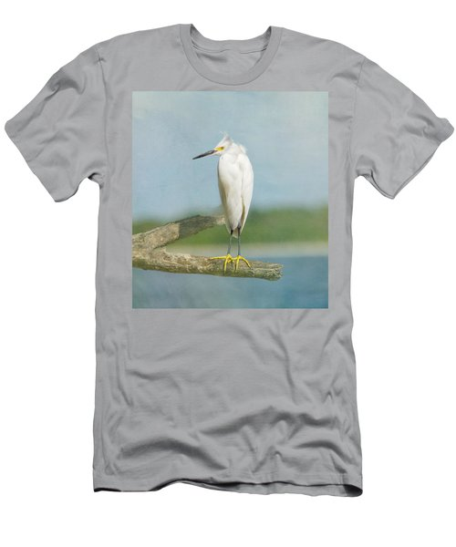 Snowy Egret Men's T-Shirt (Athletic Fit)