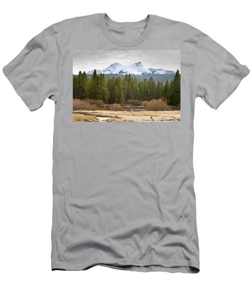 Men's T-Shirt (Slim Fit) featuring the photograph Snowy Fall In Yosemite by David Millenheft