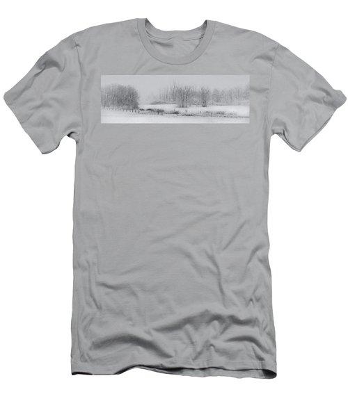 Snowy Fields Men's T-Shirt (Athletic Fit)
