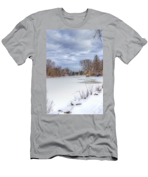 Snowy Lake Men's T-Shirt (Athletic Fit)