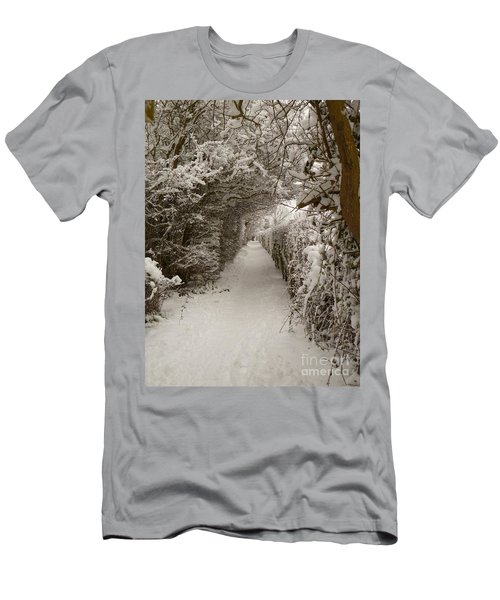 Men's T-Shirt (Slim Fit) featuring the photograph Snowy Path by Vicki Spindler