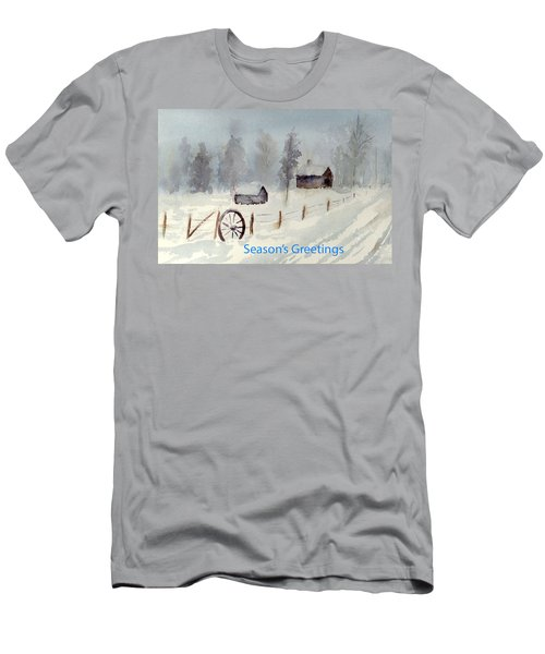 Snowy Road Men's T-Shirt (Athletic Fit)
