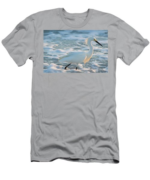 Snowy Siesta Key Sunset Men's T-Shirt (Athletic Fit)