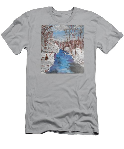Snowy Stream Men's T-Shirt (Athletic Fit)