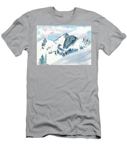 Snowy Wasatch Peak Men's T-Shirt (Athletic Fit)